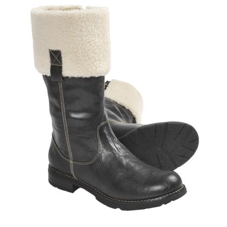 Ara Opal Shearling Cuff Boots (For Women) in Black