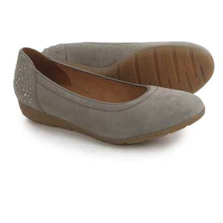 Ara Percy Ballet Flats - Nubuck (For Women) in Grigio Nubuk - Closeouts
