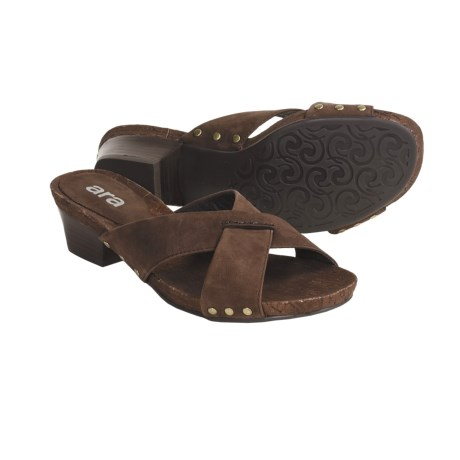 Ara Pescara Sandals - Slip-Ons (For Women) in Brown