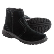 Ara Pilar Gore-Tex® Suede Snow Boots - Waterproof, Fleece Lined (For Women) in Black Suede - Closeouts