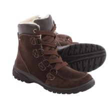 Ara Pratt Gore-Tex® Snow Boots - Waterproof, Suede, Fleece Lined (For Women) in Brown Suede/Hydro Calf - Closeouts