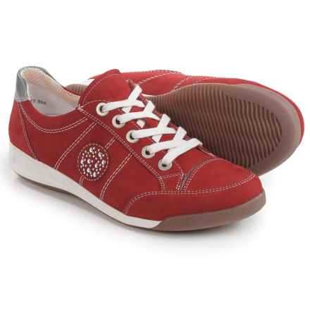 Ara Ryder Sporty Sneakers - Nubuck (For Women) in Red Nubuck - Closeouts
