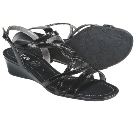 Ara Shanice Sandals (For Women) in Black Patent
