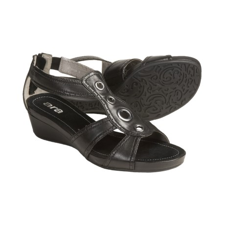 Ara Shikira T-Strap Sandals (For Women) in Black Leather