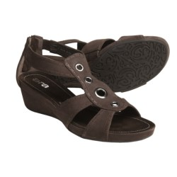 Ara Shikira T-Strap Sandals (For Women) in Brown Nubuck