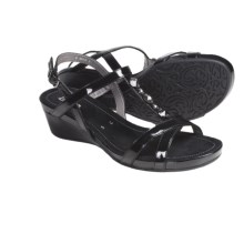 Ara Sierra T-Strap Sandals (For Women) in Black Patent - Closeouts