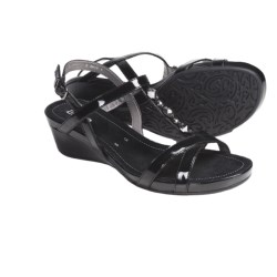Ara Sierra T-Strap Sandals (For Women) in Black Patent