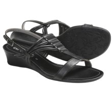 Ara Simone Wedge Sandals (For Women) in Black Leather - Closeouts