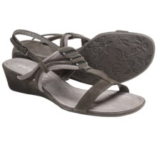 Ara Simone Wedge Sandals (For Women) in Taupe/Grey/Brown Suede - Closeouts