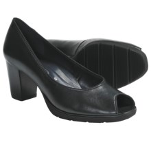Ara Steffi Peep-Toe Pumps (For Women) in Black Leather - Closeouts