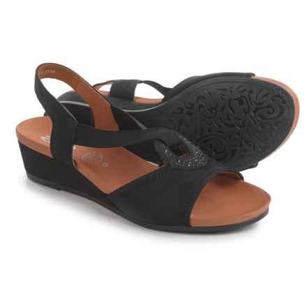 Ara Sutton Wedge Sandals - Nubuck (For Women) in Black Nubuck - Closeouts