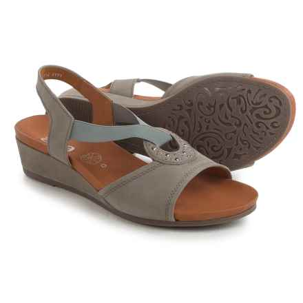 Ara Sutton Wedge Sandals - Nubuck (For Women) in Gringio Nubuck - Closeouts