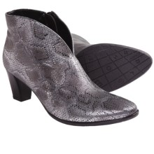 Ara Tala Ankle Boots - Side Zip (For Women) in Silver Snake Print - Closeouts