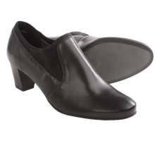 Ara Teal Shoes - Pumps (For Women) in Black Leather/Stretch Fabric - Closeouts