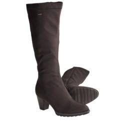 Ara Tegan Gore-Tex® Tall Boots - Waterproof, Side Zip (For Women) in Black Fabric