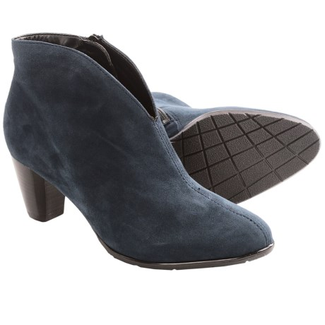 Ara Tricia Ankle Boots (For Women) in Blue Suede