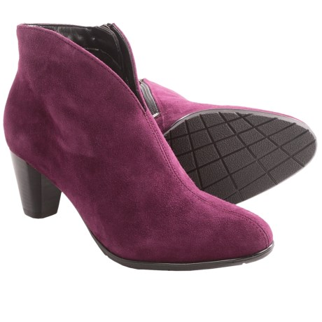 Ara Tricia Ankle Boots (For Women) in Burgundy Suede