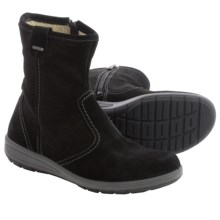 Ara Tula Gore-Tex® Suede Snow Boots - Waterproof, Fleece Lined (For Women) in Black Suede - Closeouts