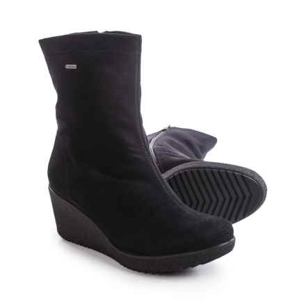 Ara Veda Gore-Tex® Snow Boots - Waterproof (For Women) in Black Microsuede Stretch - Closeouts
