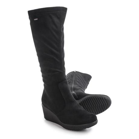 Ara Velia Gore-Tex® Snow Boots - Waterproof (For Women) in Black Microsuede Stretch