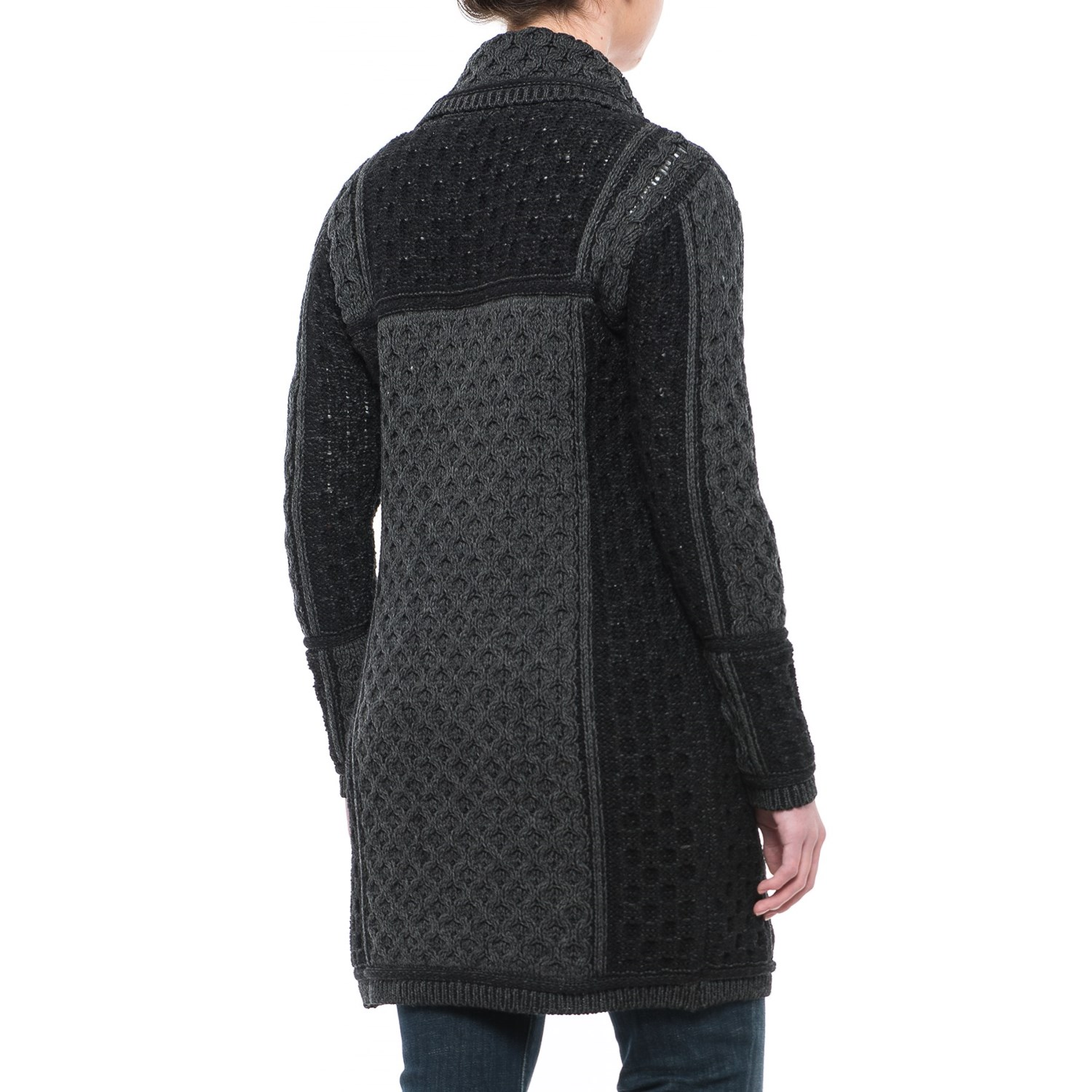 Aran Craft One-Button Plated Cardigan Sweater (For Women) - Save 55%