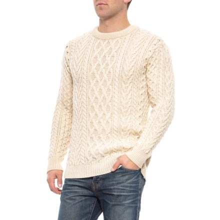 7f4cd8ddd2 Aran Mor Made in Ireland Multi-Stitch Cable Sweater - Merino Wool (For Men