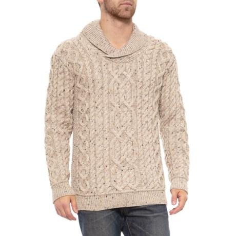 Aran Mor Made in Ireland Shawl Collar Sweater (For Men) - Save 74% eb0490a25