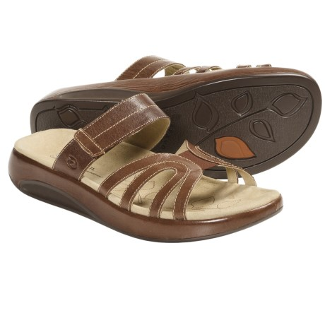 Aravon Remy Sandals - Leather (For Women) in Brown