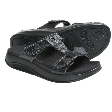Aravon Riley Sandals - Leather (For Women) in Black
