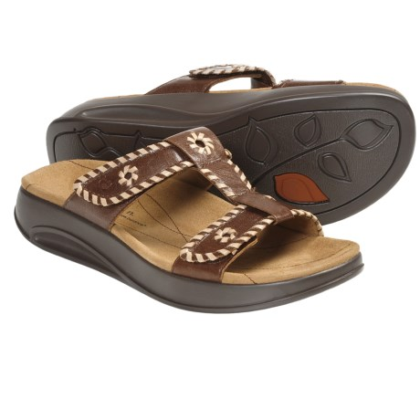 Aravon Riley Sandals - Leather (For Women) in Brown