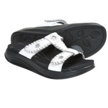 Aravon Riley Sandals - Leather (For Women) in White - Closeouts