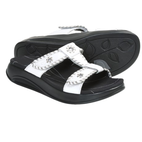 Aravon Riley Sandals - Leather (For Women) in White