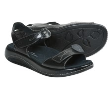 Aravon Rita Sandals - Leather (For Women) in Black - Closeouts