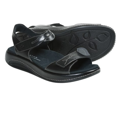 Aravon Rita Sandals - Leather (For Women) in Black