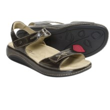 Aravon Rita Sandals - Leather (For Women) in Brown - Closeouts