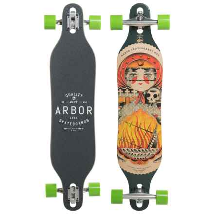 Arbor Axis GT Complete Longboard in Red/Yellow/Black - Closeouts