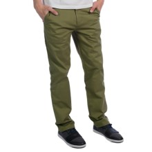 Arbor Staten Chino Pants - Classic Fit, Stretch Organic Cotton (For Men) in Army - Closeouts