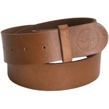 Arbor Top-Grain Leather Belt (For Men and Women) in Brown - Closeouts