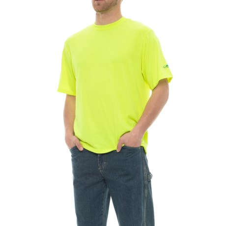 Arborwear Tech Wicking T-Shirt - Short Sleeve (For Men) in Safety Yellow