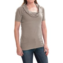 Arc'teryx A2B Shirt - Cowl Neck, Short Sleeve (For Women) in Chalk Stone - Closeouts