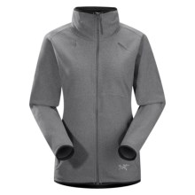 Arc'teryx Caliber Cardigan Jacket - Polartec® Classic Microfleece (For Women) in Summer Grey - Closeouts