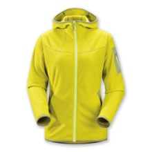 Arc'teryx Caliber Fleece Jacket - Full Zip (For Women) in Chartreuse - Closeouts