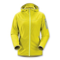 Arc'teryx Caliber Fleece Jacket - Full Zip (For Women) in Chartreuse