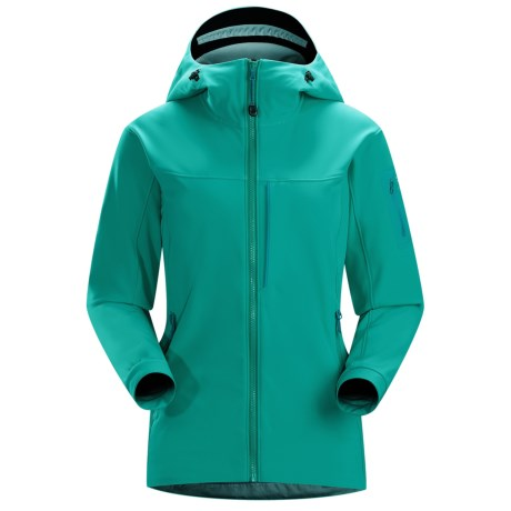 Arc'teryx Gamma MX Hooded Jacket - Soft Shell (For Women) in Seaglass