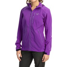 Arc'teryx Gamma SL Hybrid Hooded Soft Shell Jacket (For Women) in Ultra Violette - Closeouts
