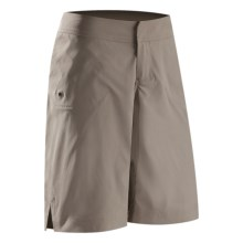 Arc'teryx Mischief Long Shorts (For Women) in Chalk Stone - Closeouts