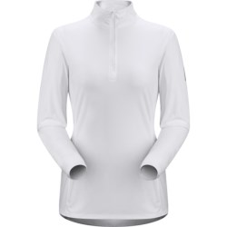 Arc'teryx Phase SL Base Layer Top - UPF 25, Lightweight, Zip Neck, Long Sleeve (For Women) in Pine Frost