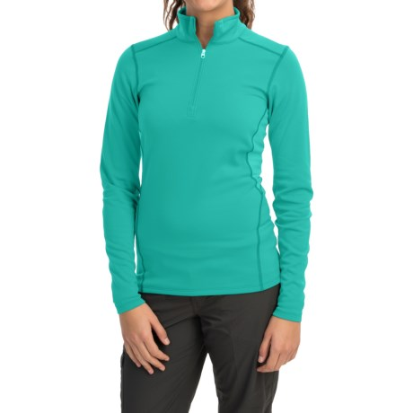 Arc'teryx Phase SV Base Layer Top - Midweight, Zip Neck, Long Sleeve (For Women) in Patina Teal