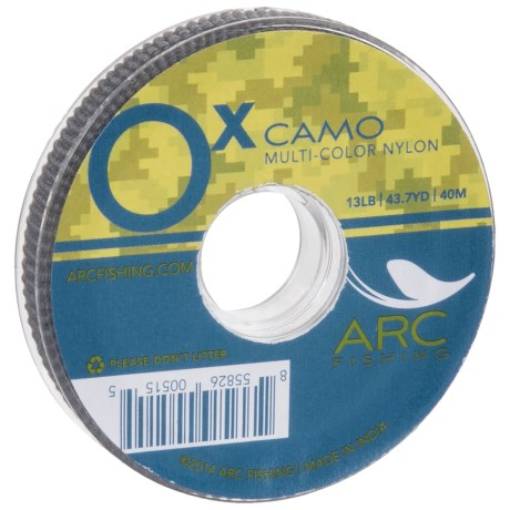 ARC Fishing Arc Fishing Multicolor Camo Nylon Tippet - 0X, 13 lb., 44 yds. in See Photo