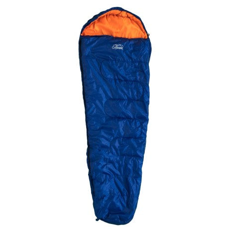 Arcadia Outdoors 35°F 4-Season Sleeping Bag with Water-Resistant Shell - Mummy in Blue/Orange